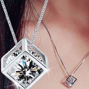 2 for $15 💎 Shining Cube Silver Necklace